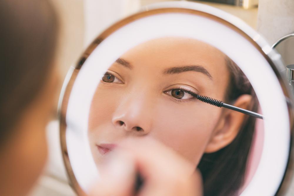 visagie spiegel met lampen